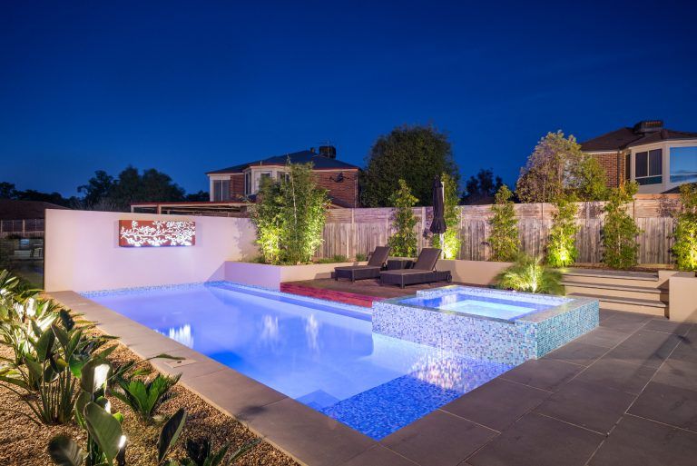 Courtyard Pool, Glass Tiles